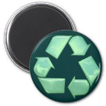 Nuevo recicle el logotipo imanes para frigoríficos