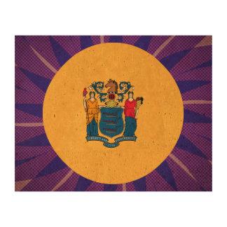 Nuevo+Recuerdo de la bandera de Jerseyan Impresiones En Corcho
