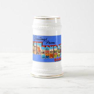 Nuevo recuerdo del viaje del vintage de Londres Jarra De Cerveza