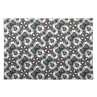 Nuevo regalo azul y blanco gris del arte de Placem Manteles