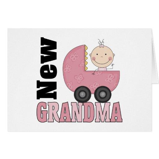 Nuevo regalo de la abuela tarjeta