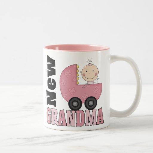 Nuevo regalo de la abuela taza de dos tonos