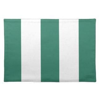 Nuevo regalo de Placemat de la raya del verde y de Mantel Individual
