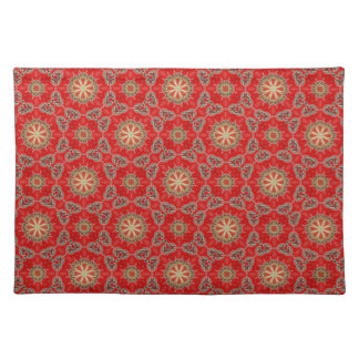 Nuevo regalo de Placemat del diseñador del rojo y  Mantel Individual