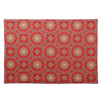Nuevo regalo de Placemat del diseñador del rojo y  Manteles Individuales