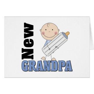 Nuevo regalo del abuelo tarjeta de felicitación