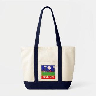Nuevo regalo del bolso de la lona del béisbol de l bolsa tela impulso