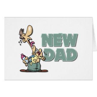 Nuevo regalo divertido del papá tarjeta de felicitación