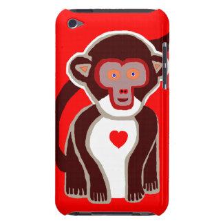 Nuevo regalo lindo del caso del tacto de Red Monke iPod Touch Case-Mate Carcasa
