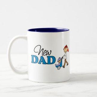 Nuevo regalo lindo del papá taza de dos tonos