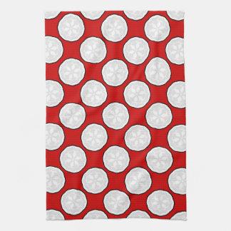 Nuevo regalo rojo y blanco de la toalla de cocina