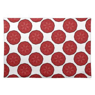 Nuevo regalo rojo y blanco de Placemat del diseñad Mantel