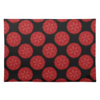 Nuevo regalo rojo y negro de Placemat del diseñado Manteles