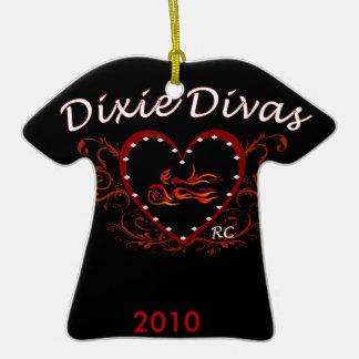 Nuevo remiendo de la diva de Dixie, 2010 Adorno De Cerámica En Forma De Camiseta