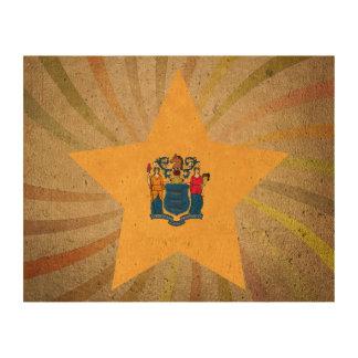Nuevo remolino de la bandera de Jerseyan del Papel De Corcho