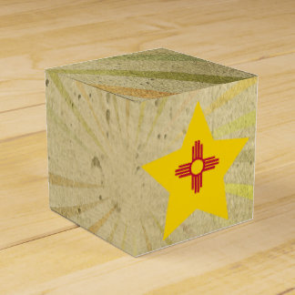 Nuevo remolino de la bandera mexicana del vintage caja para regalo de boda