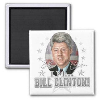 Nuevo retrato de la caricatura de Bill Clinton Imán Cuadrado