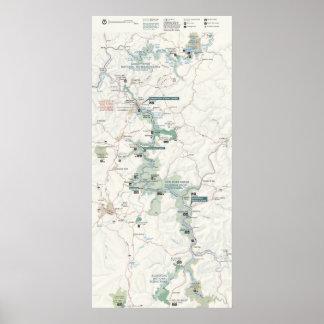 Nuevo río del nacional de la garganta del río póster