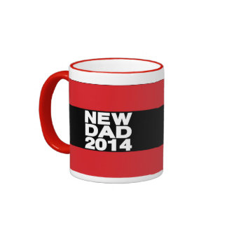 Nuevo rojo 2014 de LG del papá Tazas De Café