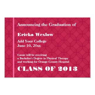 Nuevo ROJO de la invitación del graduado 2013