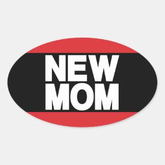 Nuevo rojo de LG de la mamá Pegatina Ovalada
