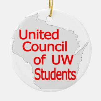 Nuevo rojo unido del logotipo del consejo en gris adorno de reyes
