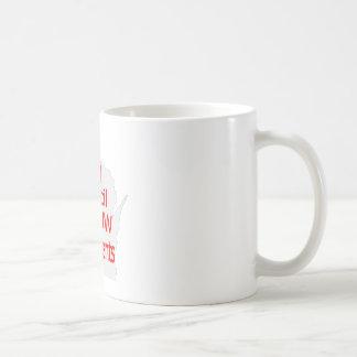 Nuevo rojo unido del logotipo del consejo en gris taza básica blanca
