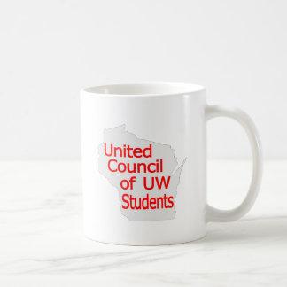 Nuevo rojo unido del logotipo del consejo en gris taza clásica