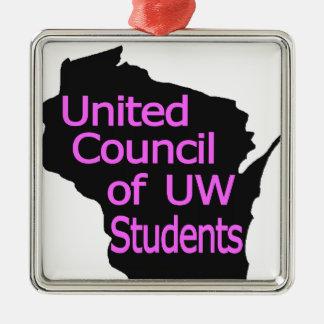 Nuevo rosa unido del logotipo del consejo en negro ornato