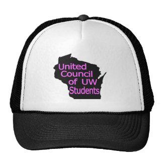 Nuevo rosa unido del logotipo del consejo en negro gorro de camionero