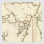 Nuevo S País de Gales, Land de Van Diemen Calcomanía Cuadradas