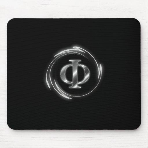 Nuevo símbolo ateo de la phi tapete de raton