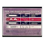 Nuevo sistema de alarma del ataque aéreo tarjetas postales