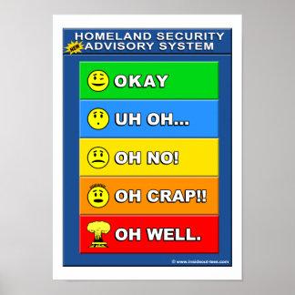 Nuevo sistema del Advisory de la seguridad de patr Poster