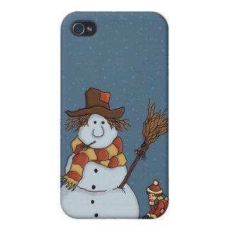 nuevo speckcase del muñeco de nieve iPhone4 iPhone 4 Carcasa