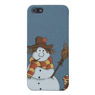 nuevo speckcase del muñeco de nieve iPhone4 iPhone 5 Carcasas