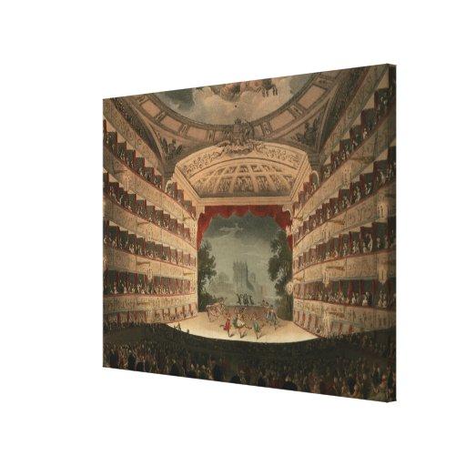 Nuevo teatro del jardín de Covent Lienzo Envuelto Para Galerias