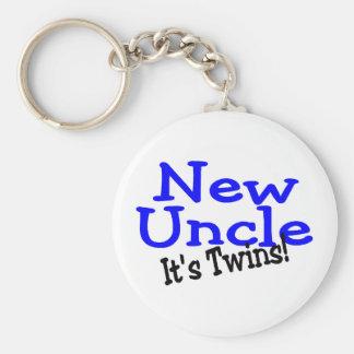 Nuevo tío Of Twins Llavero Redondo Tipo Pin
