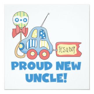 Nuevo tío orgulloso Car It es regalos de un Invitación 13,3 Cm X 13,3cm