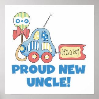 Nuevo tío orgulloso Car It es regalos de un muchac Póster