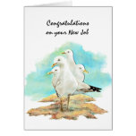 Nuevo trabajo de la enhorabuena de las gaviotas de felicitación