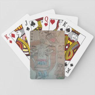 Nuevo varón del carácter del milenio barajas de cartas