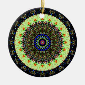 Nuevo verde claro linear con el caleidoscopio azul ornamento de reyes magos