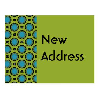 Nuevo verde de la turquesa de la dirección postal