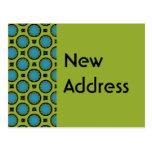 Nuevo verde de la turquesa de la dirección postales