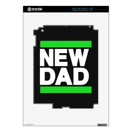 Nuevo verde del papá calcomanías para el iPad 2