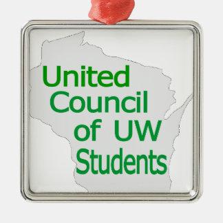 Nuevo verde unido del logotipo del consejo en gris adorno