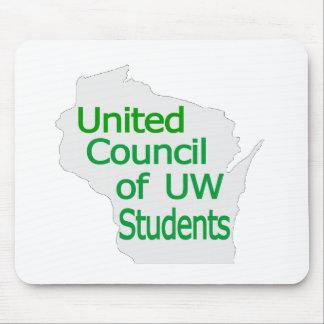 Nuevo verde unido del logotipo del consejo en gris tapetes de ratones