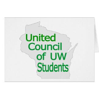 Nuevo verde unido del logotipo del consejo en gris tarjetón