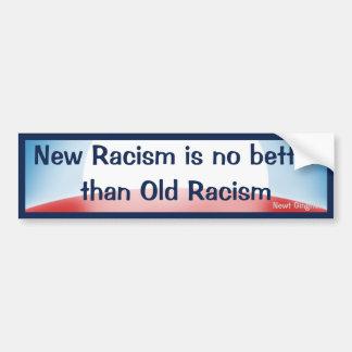 Nuevo viejo racismo del racismo v pegatina de parachoque